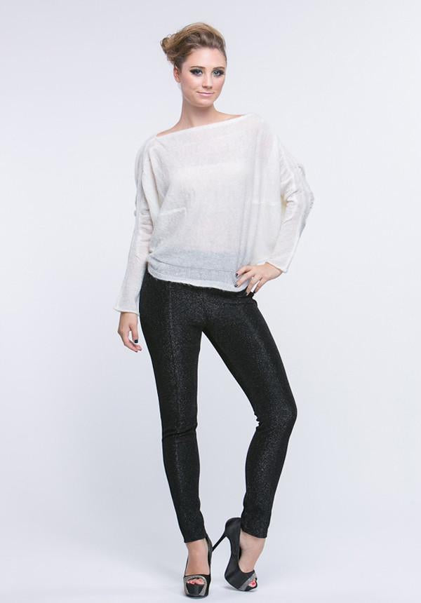 Dolman Ruched Detail Sweater