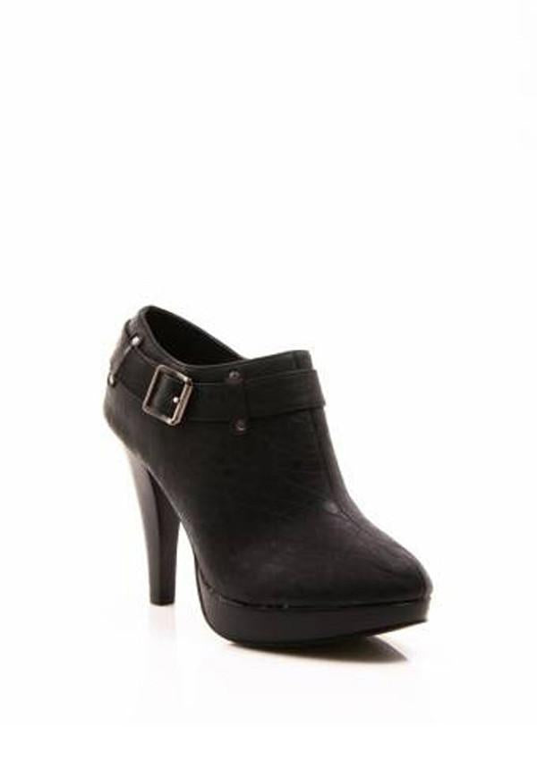 Side Buckled Strap Booties