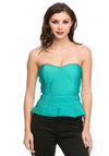 MY SWEETHEART LUXE BANDAGE PEPLUM TOP