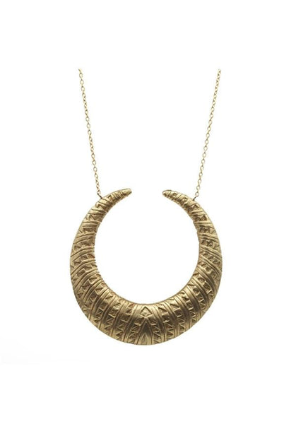 Chibi Jewels Tribal Crescent Moon Necklace