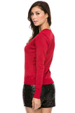 Luxe V-Neck Sweater Top