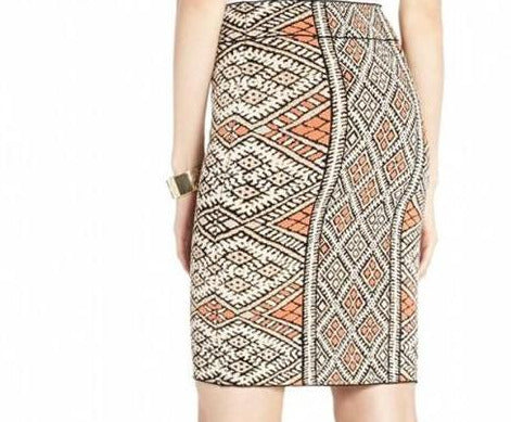 Carmel Patchwork Pencil Skirt