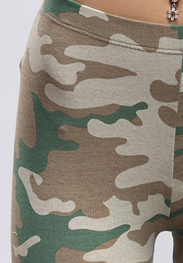Army Green Camouflage Leggings