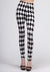 Black And White Checkered Leggings