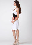Colorblock Surplice Jersey Dress