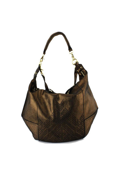 Oversize Metallic Dunnaway  Hobo Bag