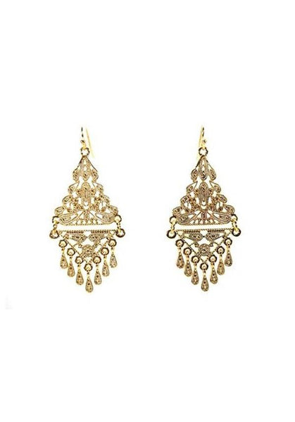Gold Tone Cascade Earrings