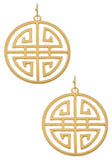 Art Deco Medallion Earrings