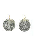 Spirographic Gold Disk Earrings