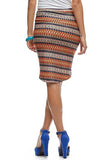 Tribal High-Low Skirt