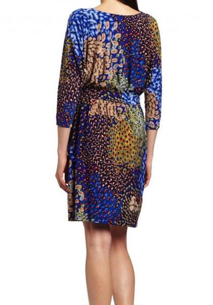 Knit City Peacock Print Dress