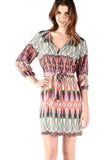 Tribal Print Silk Mira Dress