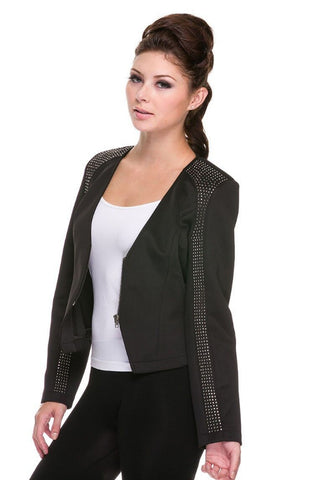 Marilou Zip Down V-Neck Jacket