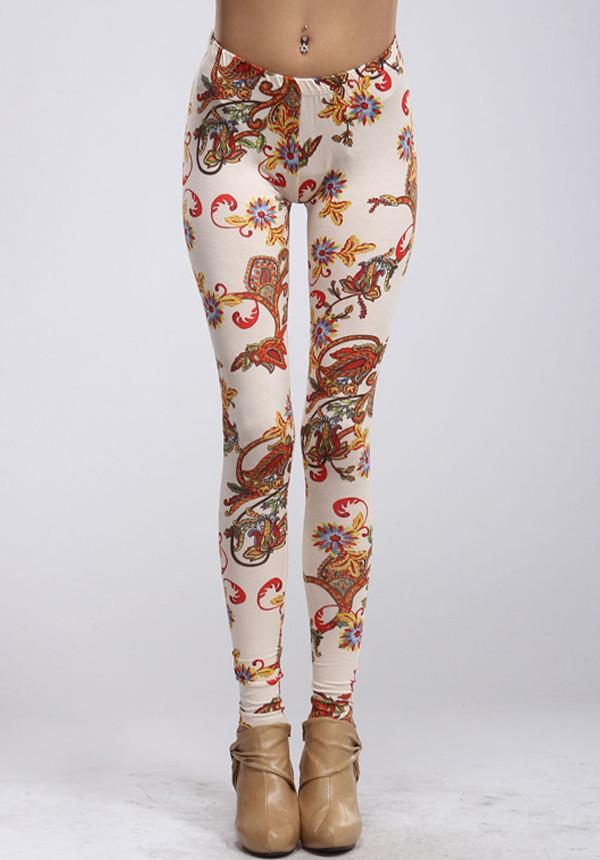 Regal Paisley Leggings