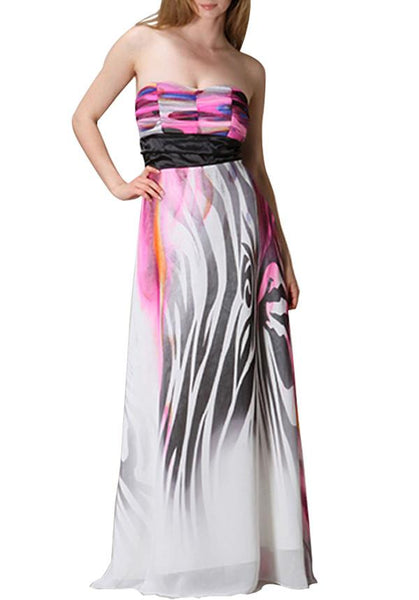 Majestic Strapless Maxi Dress
