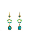 Triple Drop Beaded Earrings