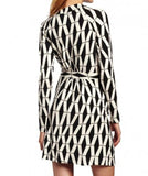 Marie Black And White Wrap Dress