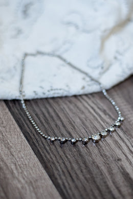 Rhinestone Necklace (Circle)