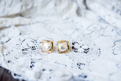 Gold & Pearl & Square