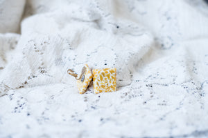 Vintage Yellow and White Clip-ons!