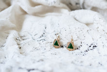 Gold and Green Stone Earrings!