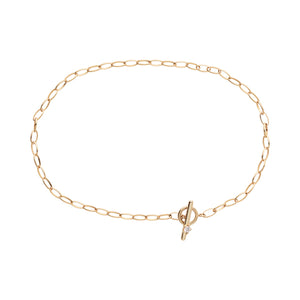Charm bracelet gold diamond
