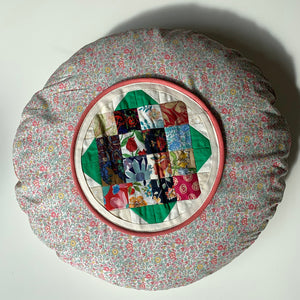 pillow liberty fabric patchwork pude