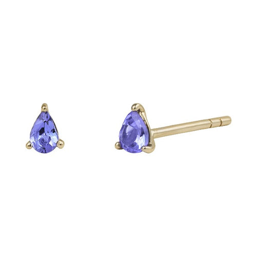 Earring Gold Tanzanite