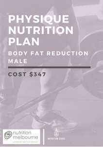 Physique Nutrition Plan - Body Fat Reduction (Male) - NutritionStore.com.au (ABN: 78 134 947 363)