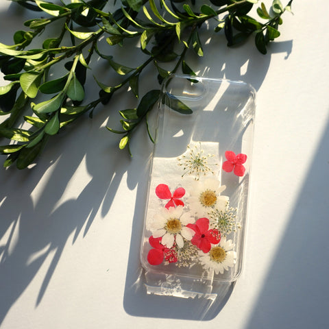 Fashion Real Flower iPhone Case
