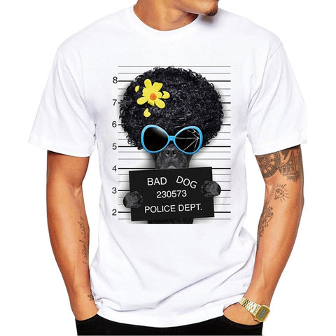 Pug Life Dog Police Dept Design Men T-Shirt