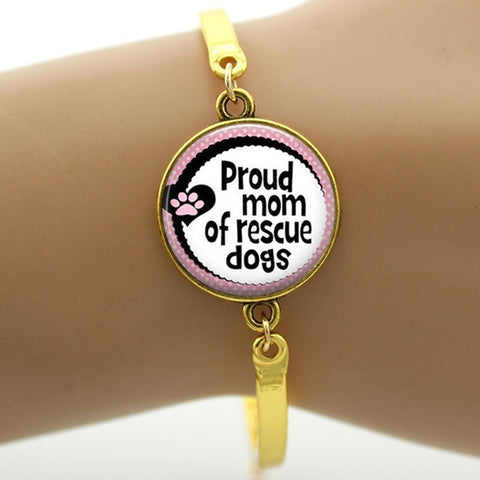 Proud mom of rescue dogs bracelet