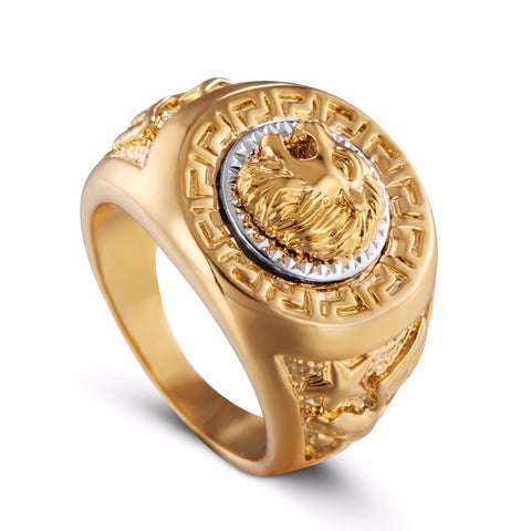 Gold Plated Lion Ring