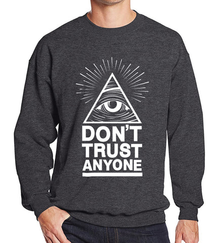 Printed Dont Trust Anyone Illuminati All Seeing Eye Hoodies for Men