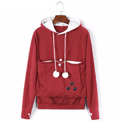 Women Big Pocket Hoodies With Cuddle Pouch