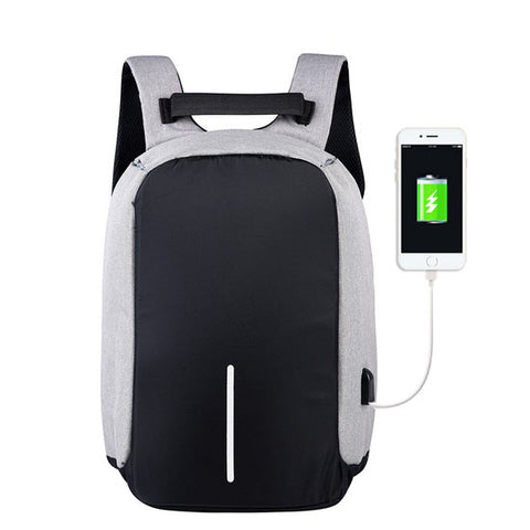 Best Anti-Theft USB Charging Travel Backpack Gray
