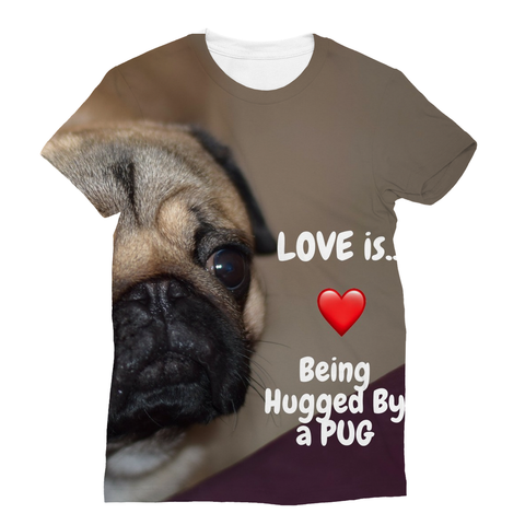 Pug Hug Sublimation T-Shirt