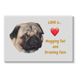Pug Love Stretched Eco-Canvas