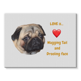 Pug Love Stretched Canvas