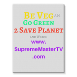 Be Vegan Stretched Canvas