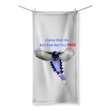 Dancing Bluebird Beach Towel
