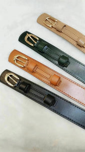 Buckle Belt with 2 Layers Stripe