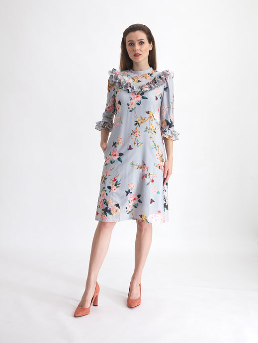 Asturias Ruffle Dress