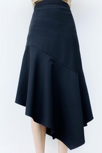 Load image into Gallery viewer, Ruffle Hem Asymmetrical Skirt