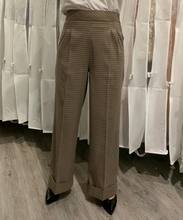 Load image into Gallery viewer, Plaid High-Rise Pants in Brown