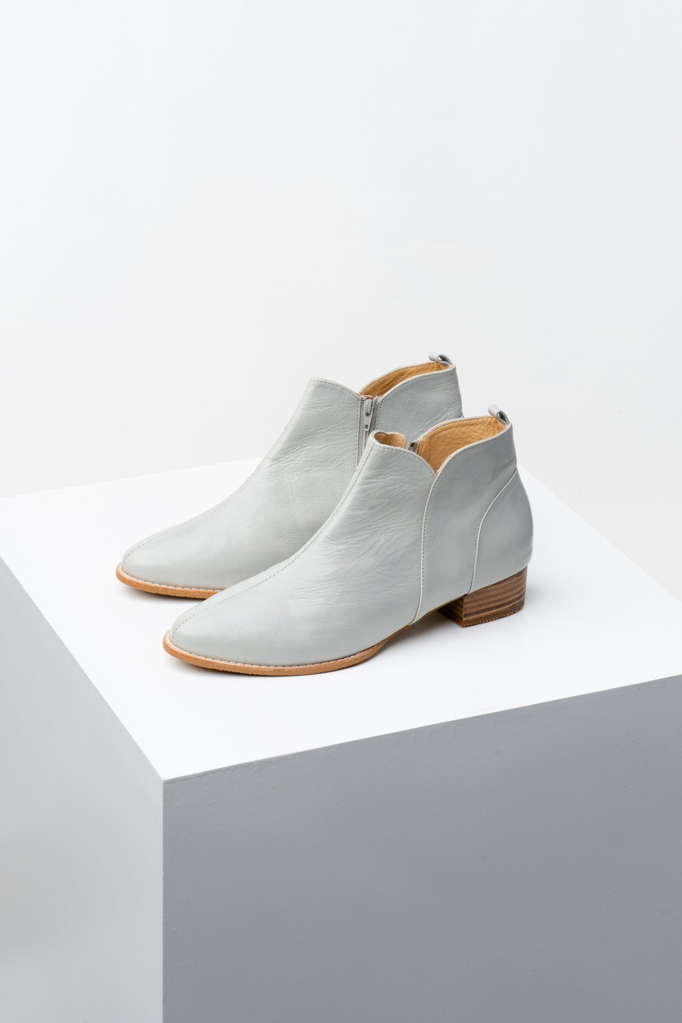 Stone Grey ankle boots