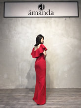 Load image into Gallery viewer, Red Long Off Shoulder Dress