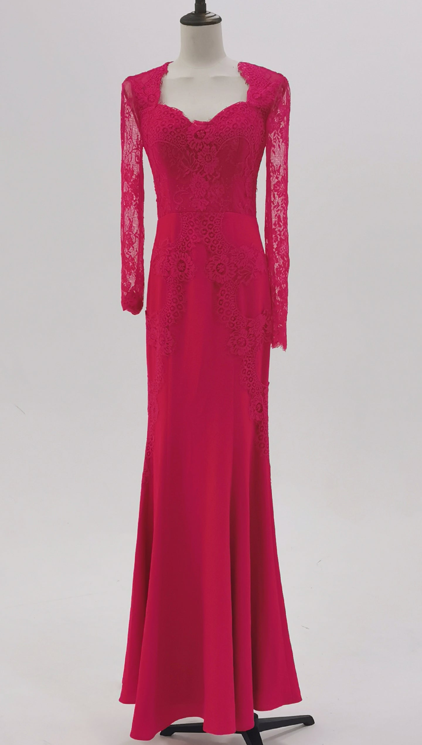 Red Netting Gown