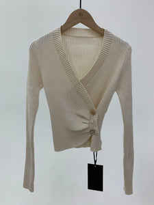 V-Neck Wrap Cardigan