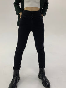 High-Rise Skinny Black Jeans